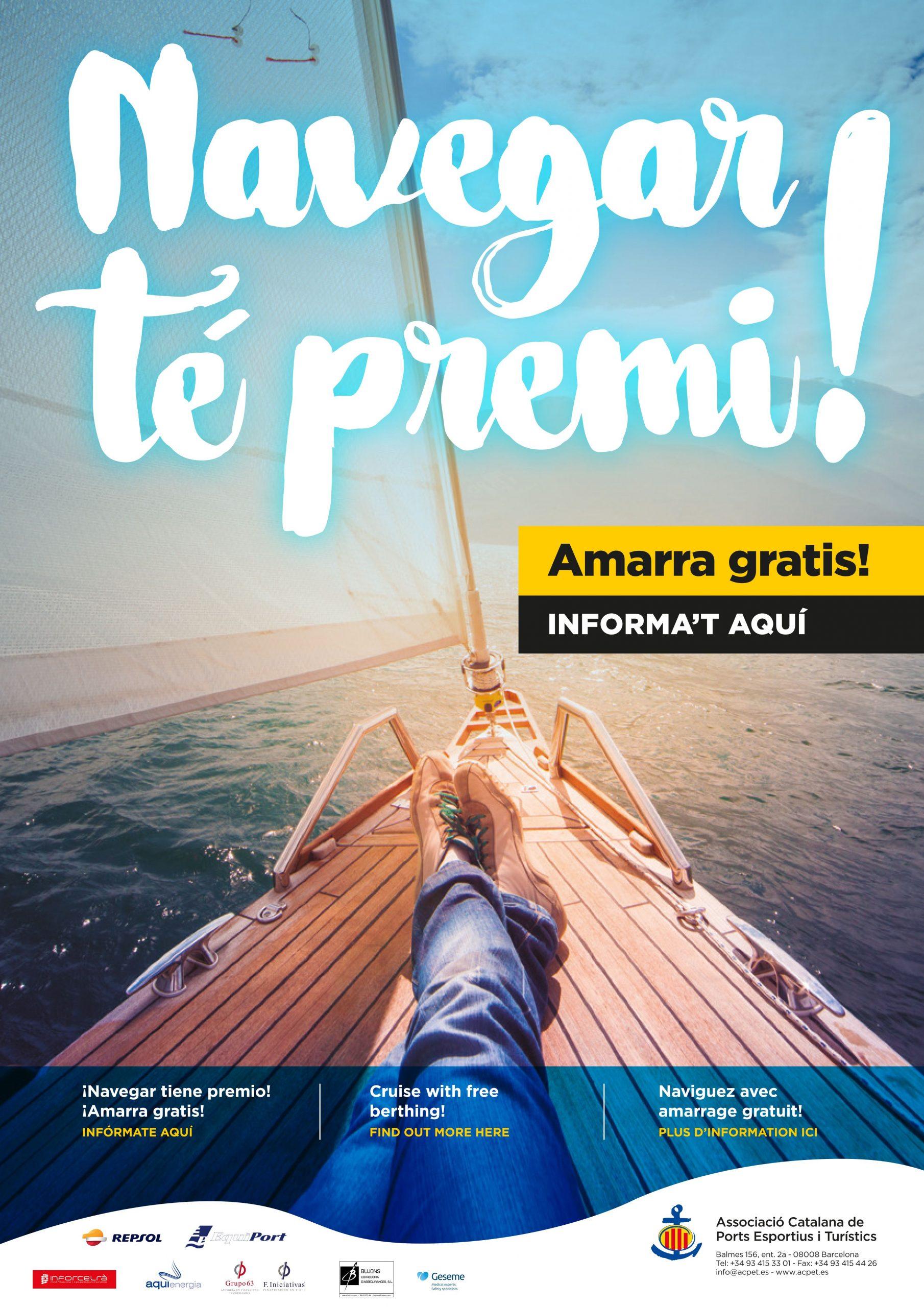 Vuelven las noches gratuitas de amarre con el 'Navegar tiene Premio. Amarra gratis!'