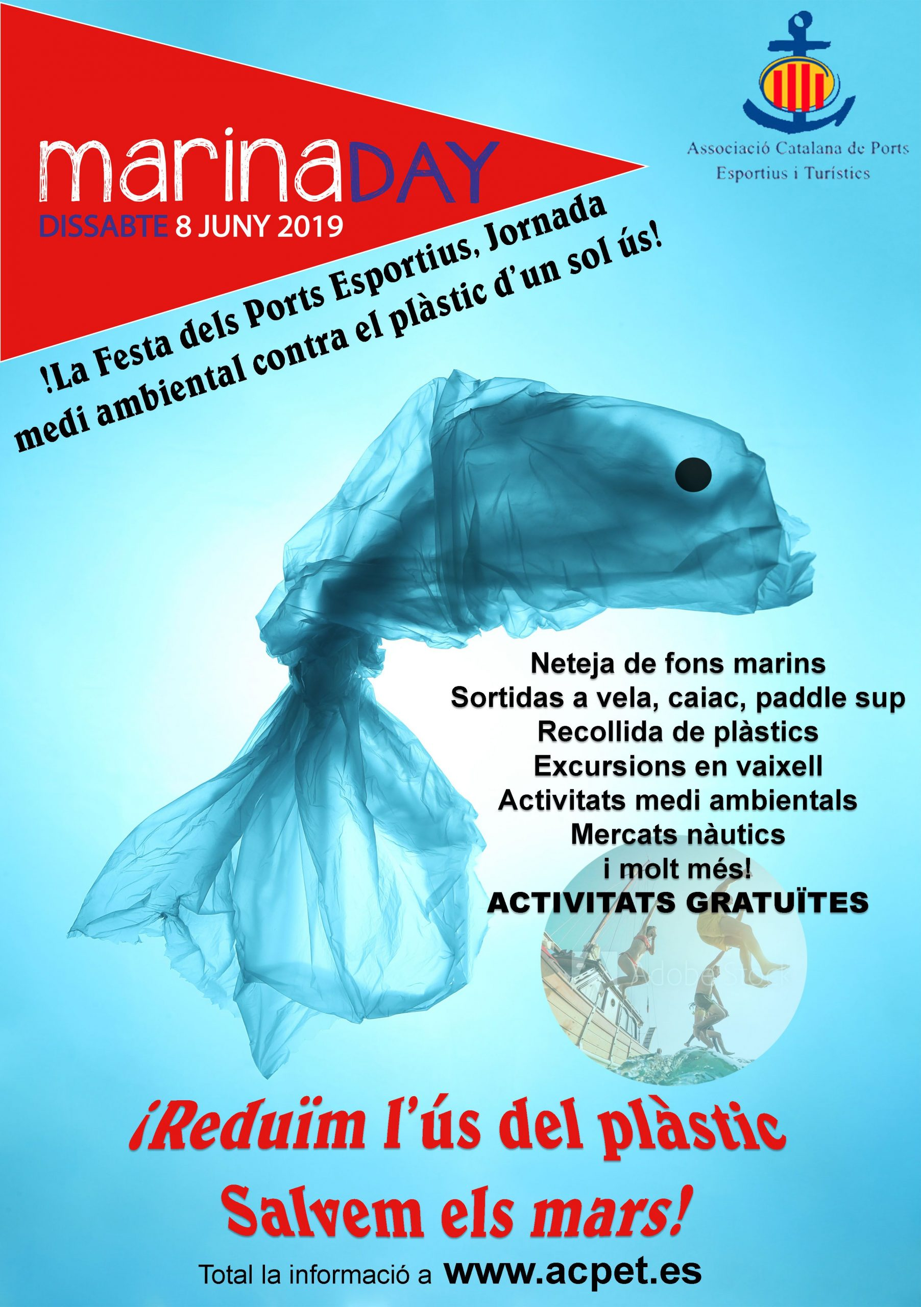El Marina Day i els ports esportius contra el plàstic